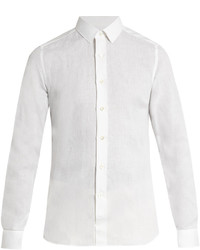 Valentino Button Cuff Linen Shirt