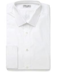 Charvet White Slim Fit Cotton Shirt