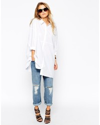 Asos Collection Oversized Longline White Shirt | Where to buy ...