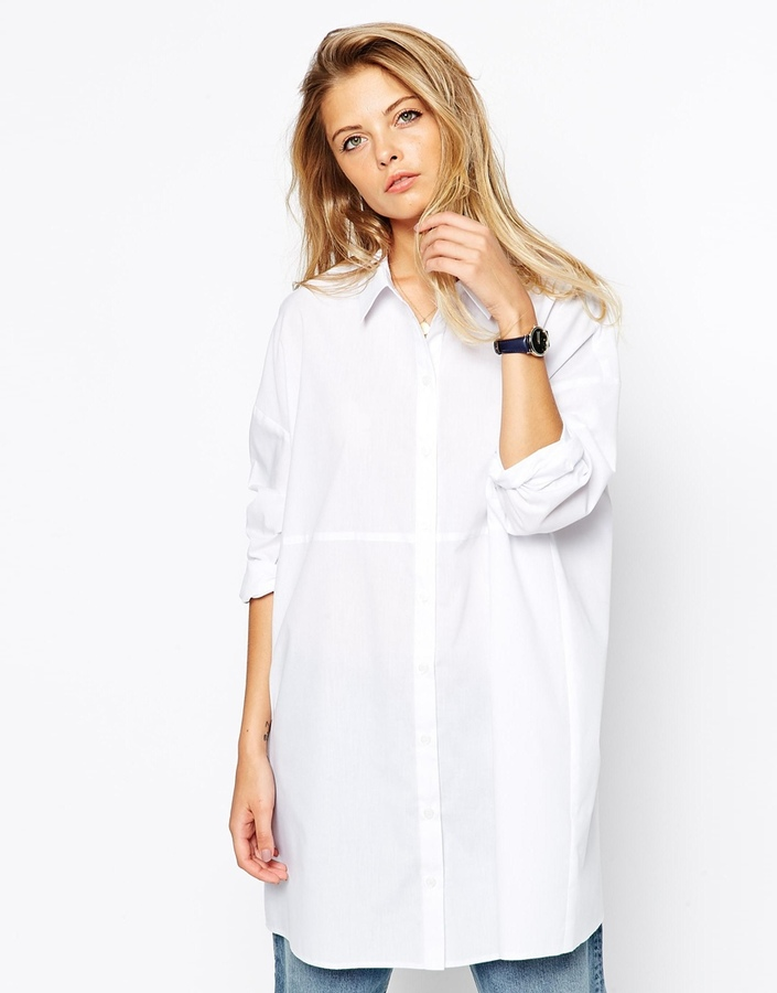 Longline white shirt womens custom shirt for Buy white dress shirt