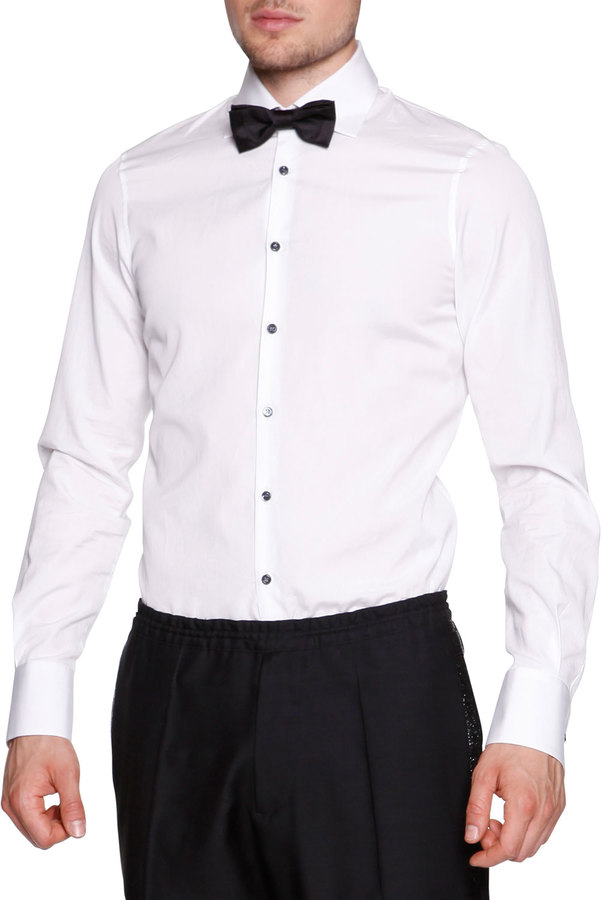 DSQUARED2 Black Button Evening Shirt White | Where to buy & how to ...