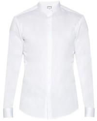 Wooyoungmi Granddad Collar Cotton Poplin Shirt