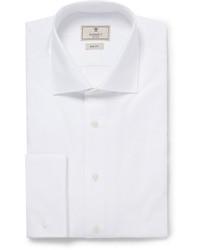Hackett White Mayfair Cotton Tuxedo Shirt