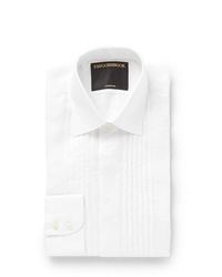 Favourbrook Ivory Bib Front Cotton Voile Shirt