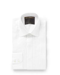 Favourbrook Ivory Bib Front Cotton Voile Shirt