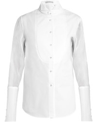 J.W.Anderson Detachable Wingtip Collar Cotton Tuxedo Shirt