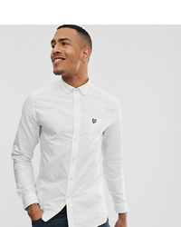 Lyle & Scott Long Sleeve Oxford Shirt In White