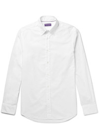 Ralph Lauren Purple Label Slim Fit Button Down Collar Cotton Oxford Shirt