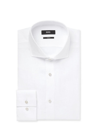 Hugo Boss White Jason Slim Fit Linen Shirt
