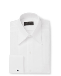 Maximilian Mogg White Slim Fit Bib Front Cotton Tuxedo Shirt