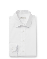 Etro White Slim Fit Cotton Oxford Shirt