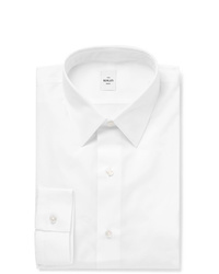Berluti White Slim Fit Cotton Poplin Shirt