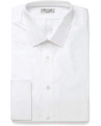 Charvet White Slim Fit Cotton Shirt