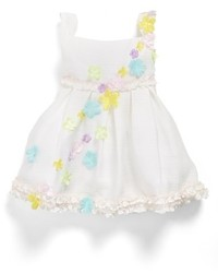 Us Angels Cascading Flowers Organza Dress