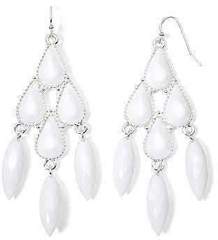 jcpenney Decree White Chandelier Earrings   Where to buy & how to wear