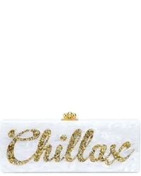 Embellished chillax print flavia clutch medium 631014