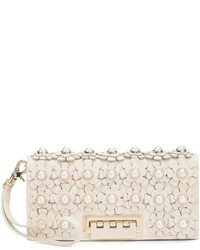 Zac flower embellished clutch medium 1252073