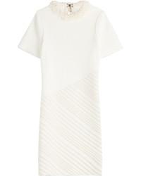 White Embellished Sheath Dress
