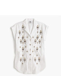 J.Crew Collection Thomas Mason For Embellished Popover Shirt