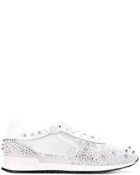 Philipp Plein Metallic Embellished Sneakers