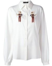 Beaded rabbit detail shirt medium 748892