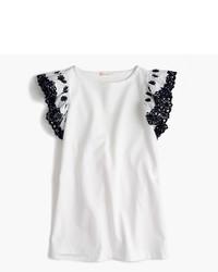J.Crew Girls Embroidered Ruffle Sleeve Dress