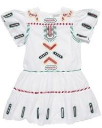 Stella McCartney Kids Ines Embroidered Cap Sleeve Dress