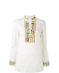 Tory Burch Mandarin Neck Blouse