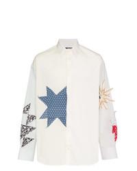 Calvin Klein 205W39nyc Embroidered Detail Cotton Shirt