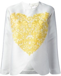 Embroidered heart blouse medium 34310