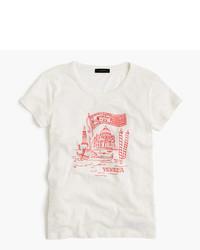 J.Crew Venice Embroidered Destination Art T Shirt