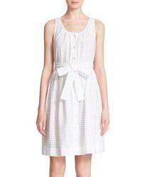 Kate Spade New York Dot Eyelet Sleeveless Dress