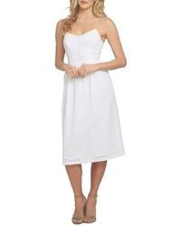 White Eyelet Midi Dress