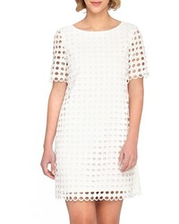 White Eyelet Shift Dress