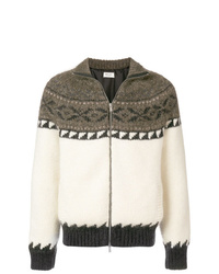 Saint Laurent Zip Up Knitted Jacket