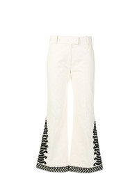 Tory Burch Embroidered Flared Trousers