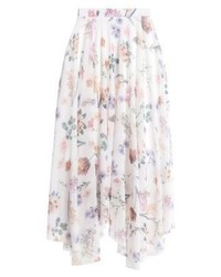 New Look Bella Botanical A Line Skirt White
