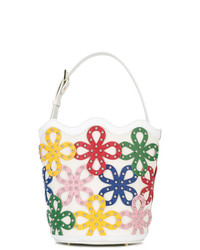 Sara Battaglia Floral Bucket Bag