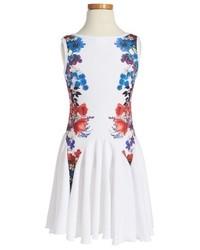 Twirls Twigs Floral Print Flare Dress