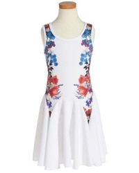 Twirls Twigs Floral Print Flare Dress