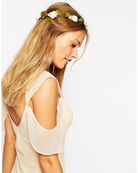 Asos Collection Mixed Rose Flower Hair Garland