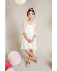 Jenny Yoo Annie Floral Applique Lace Dress