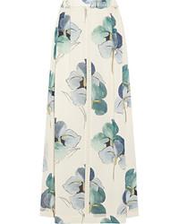 White Floral Maxi Skirt