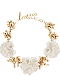 Gold plated resin necklace medium 159266