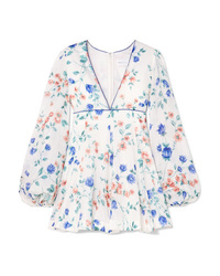 Alice McCall Bluebell Floral Print Cotton And Mini Dress