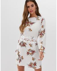 AX Paris Floral Long Sleeve Mini Dress