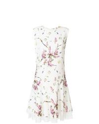 Ermanno Scervino Floral Print Lace Hem Dress