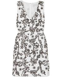 Rachel Zoe Shari Embellished Cotton Gauze Mini Dress