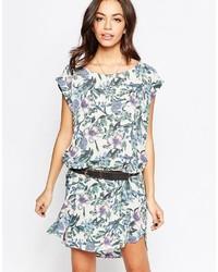 Minimum Short Sleeve Floral Shift Dress
