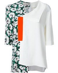 Stella McCartney Asymmetric Floral Blouse